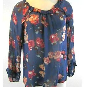 Sundace Blue Floral Print Tunic Top